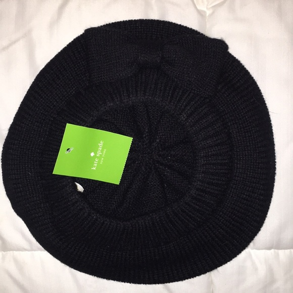 Kate Spade Gathered Bow Beret-NWT e1d6430ac80